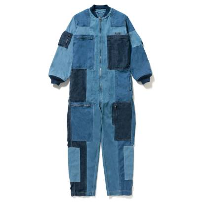 Ambush multi denim jumpsuit as seen on Rihanna