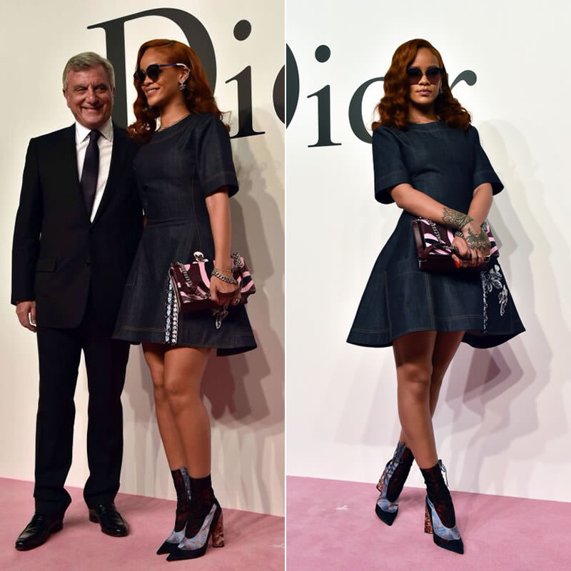 013a5c19ee9d Today Rihanna attended Christian Dior s Autumn Winter 2015 repeat show at  the National Art Center in Tokyo