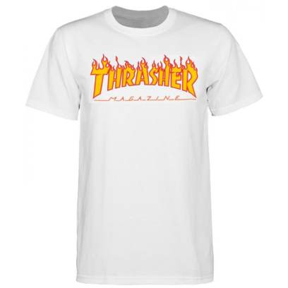 Thrasher Magazine flame logo t-shirt as seen on Rihanna