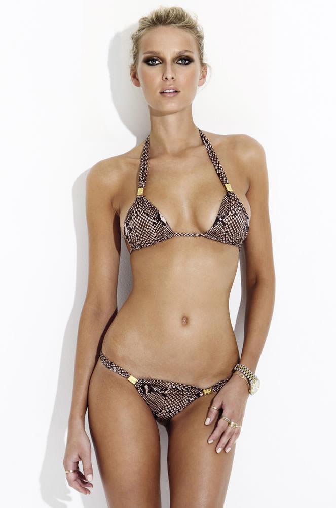 Charlie by Matthew Zink Farrah python bikini as seen on Rihanna