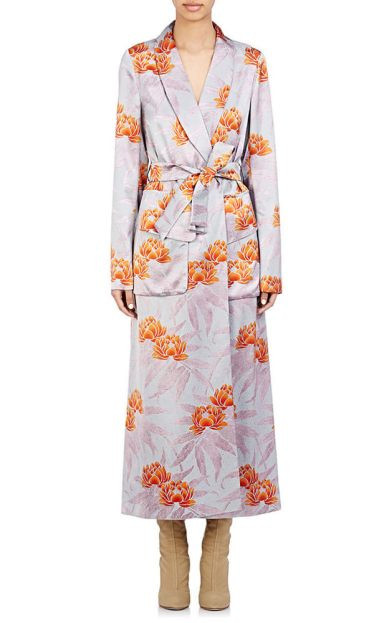 Dries Van Noten Daisy robe dress as seen on Rihanna