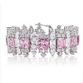 Fallon pink topaz Monarch bracelet as seen on Rihanna