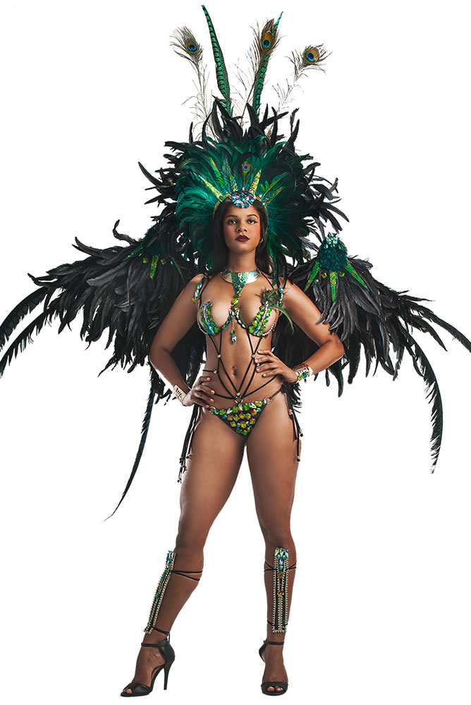 Zulu International Crop Over 2015 Mockingjay costume as seen on Rihanna