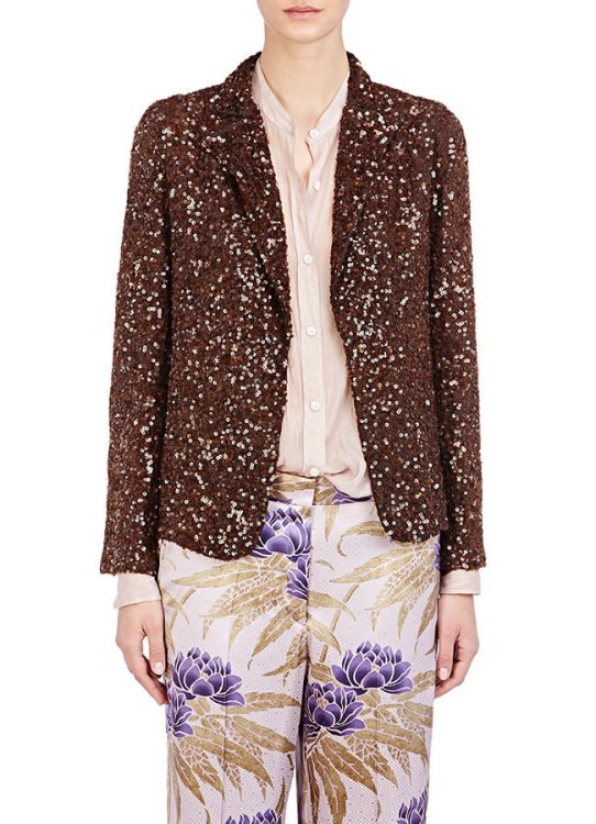 Dries Van Noten Babis sequined jacket as seen on Rihanna