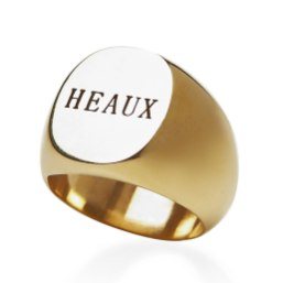 Fallon Heaux signet ring as seen on Rihanna