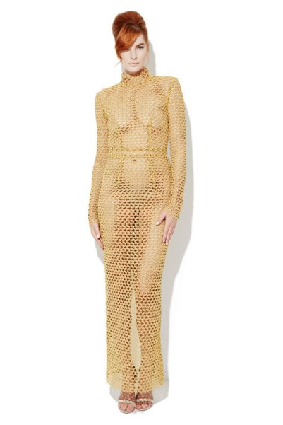 Laquan Smith Spring 2016 Cleopatra dress as seen on Rihanna