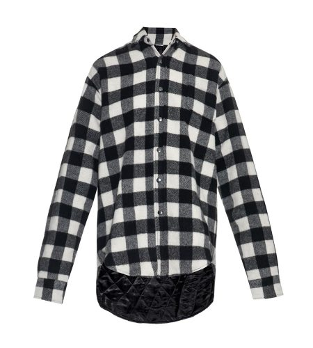 Vetements plaid wool-blend shirt as seen on Rihanna