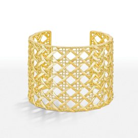 Dior 18k gold My Dior cuff bracelet as seen on Rihanna