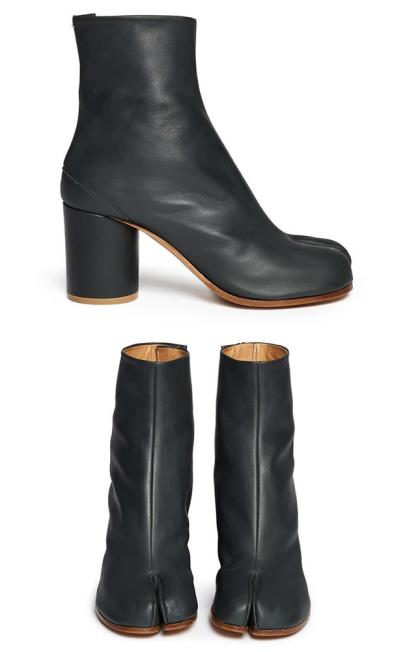 Maison Margiela Tabi split toe ankle boots as seen on Rihanna