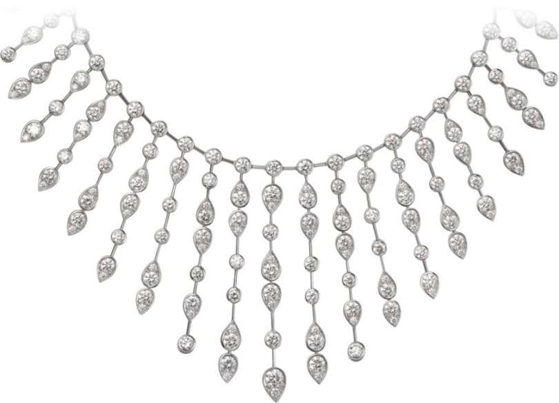 Cartier Diamants Classiques platinum diamond necklace as seen on Rihanna