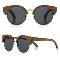 Finlay and Co Thurloe wooden round sunglasses as seen on Rihanna