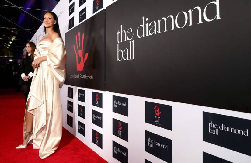 Rihanna Diamond Ball 2015 Christian Dior couture dress