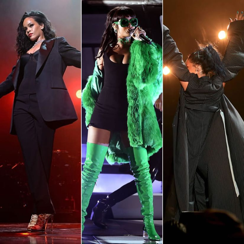 Rihanna best performance outfits of 2015