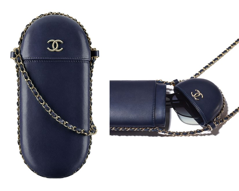 Chanel shoulder strap glasses case as seen on Rihanna