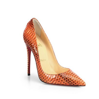 Christian Louboutin So Kate snakeskin pumps as seen on Rihanna