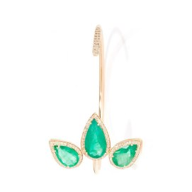 Jacquie Aiche pavé diamond emerald teardrop cuff as seen on Rihanna