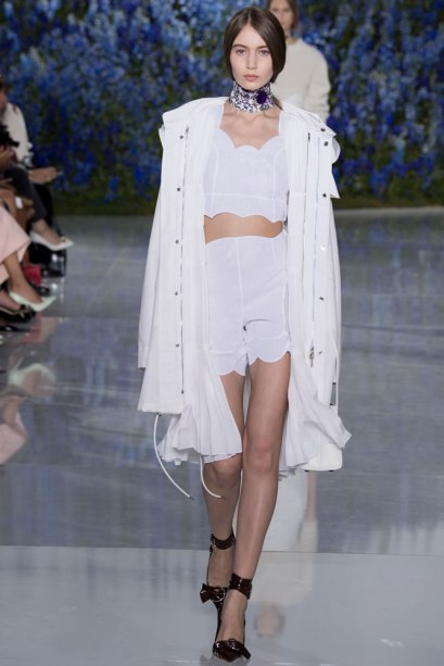 Christian Dior Spring 2016 white parka as seen on Rihanna