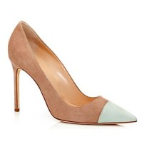 Manolo Blahnik suede Bipunta cap-toe pumps as seen on Rihanna
