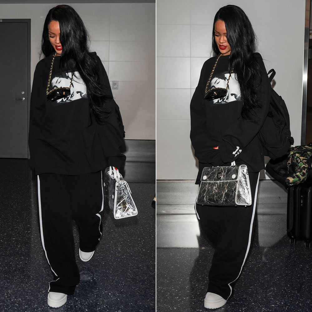 271d6d2bd7f After taking in the Lakers vs Warriors game Rihanna was spotted at LAX  airport. She s rumoured to be heading to Florida where the ANTI World Tour  kicks off.