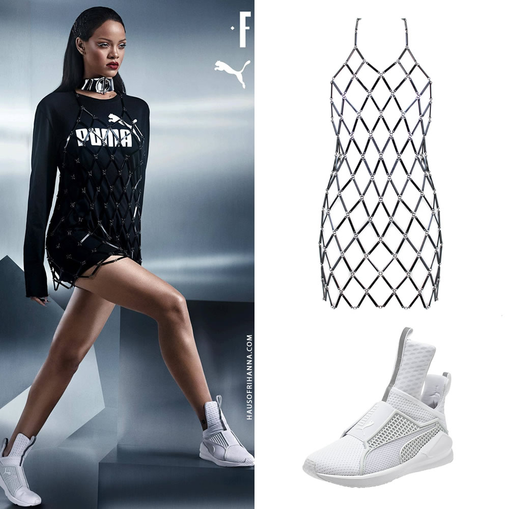 c93a25756b6c Next Rihanna shows off The Trainer in Whiteout. These can be purchased at  Opening Ceremony and Nordstrom (women or men) for  180.