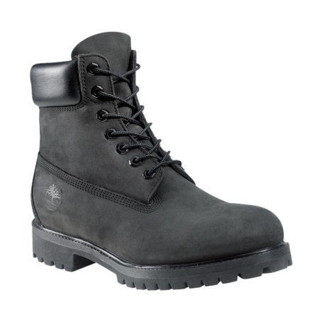Timberland 6-inch premium black nubuck suede boots as seen on Rihanna