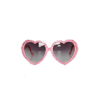 A-Morir pink Schubert heart-shaped sunglasses as seen on Rihanna