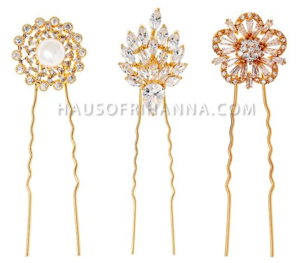 Fallon Monarch crystal hair pins as seen on Rihanna