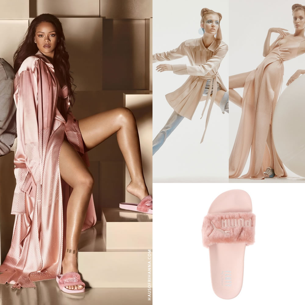 promo code 6c41c 05a61 Rihanna In Puma by Rihanna Fur Slides Campaign - Haus of Rihanna