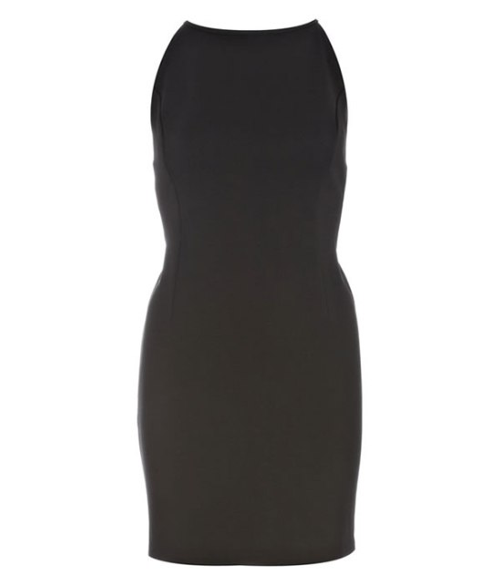 Rihanna for River Island tie low back dress in black as seen on Rihanna