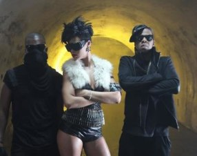 Rihana in the Run This Town video wearing a-morir Barracuda sunglasses