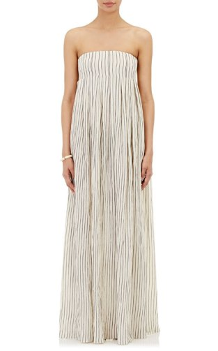 Brock Collection striped Dilly maxi dress as seen on Rihanna