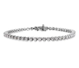 Hearts On Fire 18k white gold and white diamond Temptation bracelet as seen on Rihanna