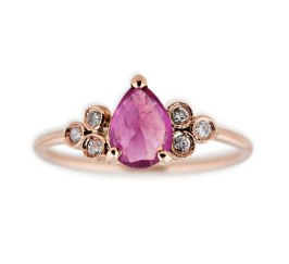 Jacquie Aiche 3x3 diamond and ruby ring as seen on Rihanna