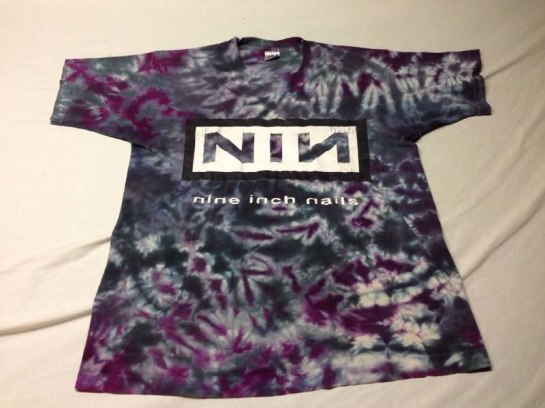 Nine Inch Nails vintage tie dye t-shirt