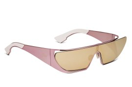 Rihanna x Dior shield sunglasses in pink