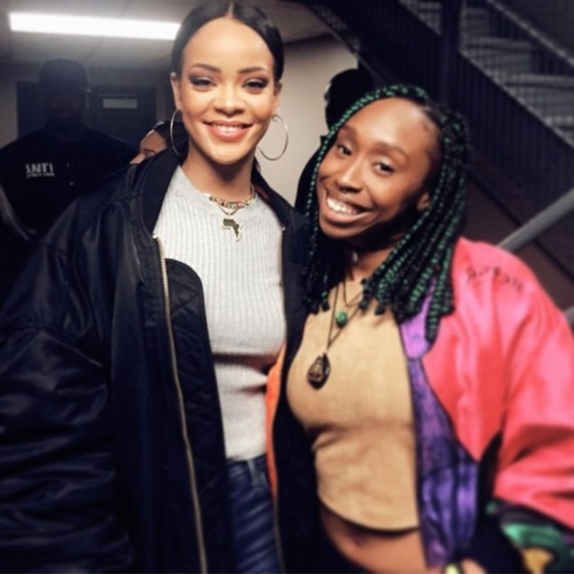 Rihanna Vetements black bomber jacket and Citizens of Humanity Preium Vintage Arley distressed jeans in Ramone