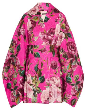 Dolce & Gabbana floral kimono mini dress as seen on Rihanna
