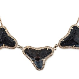 Jacquie Aiche shark tooth necklace as seen on Rihanna