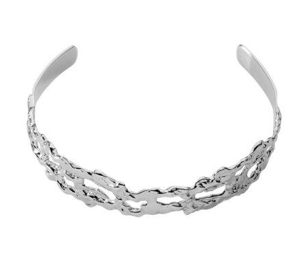 Jennifer Fisher silver molten choker as seen on Rihanna