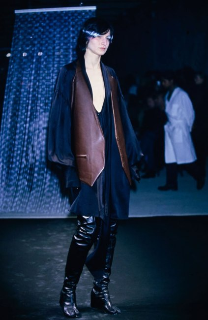 Maison Margiela Fall 2001 Tabi thigh-high wedge boots