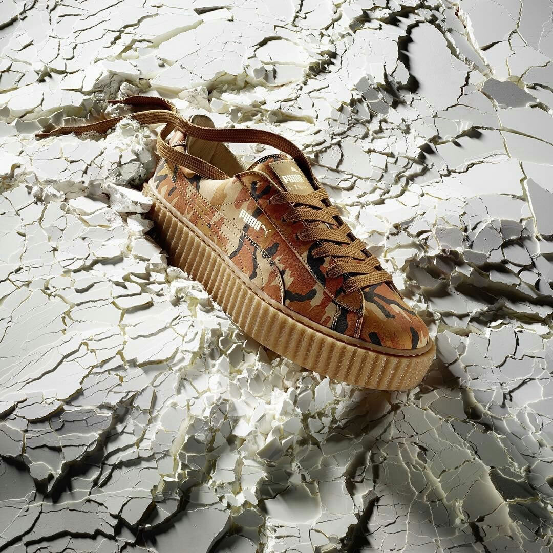 huge discount ca9ef f2cd5 Yet another iteration of the Fenty x Puma Creeper is on its way so get  ready! Rihanna s highly-coveted shoe now comes in Autumn Camo.