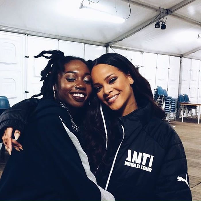 Rihanna custom Puma puffer jacket Anti World Tour