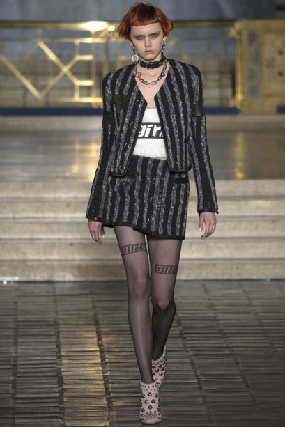 Alexander Wang Fall 2016 sheer Girls stockings as seen on Rihanna
