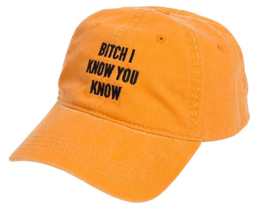 Anti World Tour Bitch I Know You Know hat as seen on Rihanna