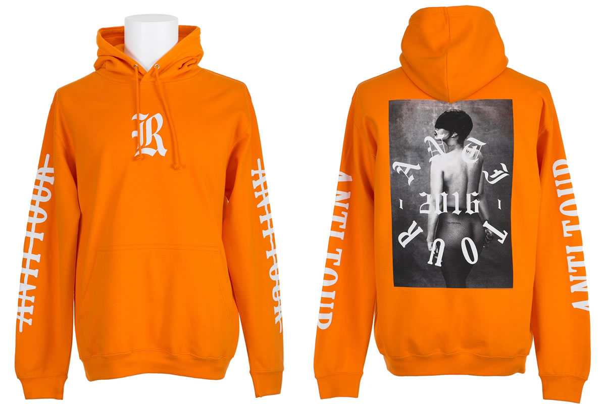 66e7b137485 Rihanna In Anti World Tour Hoodie At Smufkest - Haus of Rihanna