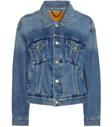 Balenciaga fall 2016 denim jacket as seen on Rihanna