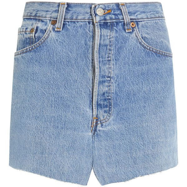 Vetements denim mini skirt as seen on Rihanna