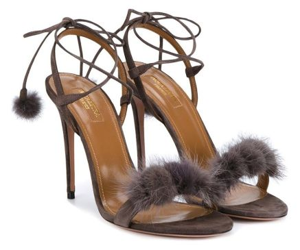 Aquazzura Wild Thing fur sandals