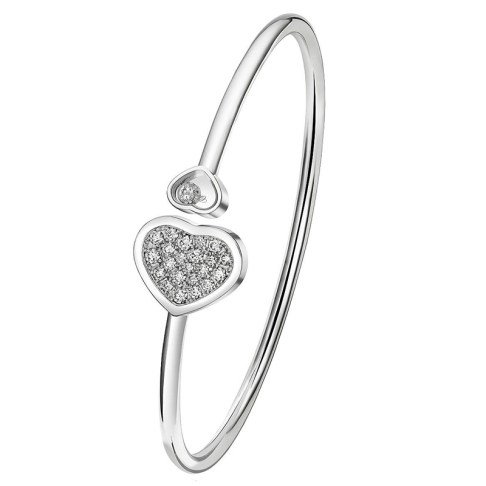 Chopard Happy Hearts pavé white diamond bracelet as seen on Rihanna
