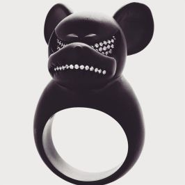 Lynn Ban for Fenty x Puma Mad Mickey mouse ring